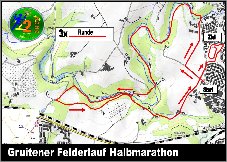 Karte zum Gruitener Felderlauf
