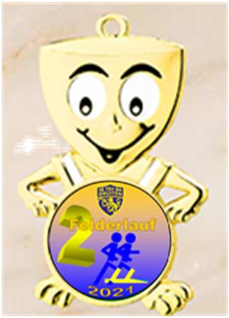 Gruitener Felderlauf Medaille Kinder